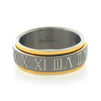 Barraca Titanium Ring With Gold