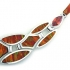 Mexican Fire Opal Silver Necklace, Bracelet and Earrings Set