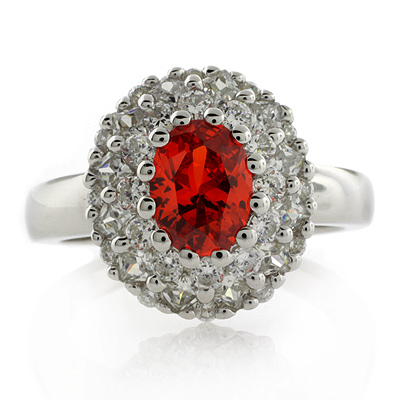 Stunning Mexican Fire Cherry Opal Silver Ring