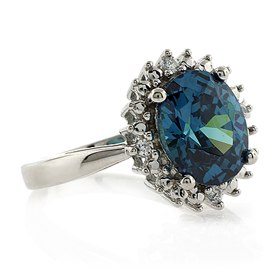 Opal Emerald Diamond Ring