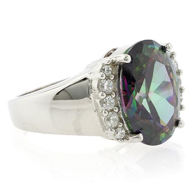 925 Sterling Silver Mystic Topaz Ring