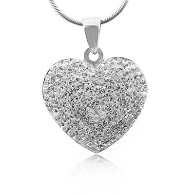 Heart swarovski silver pendant silverbestbuy heart swarovski silver pendant mozeypictures Images