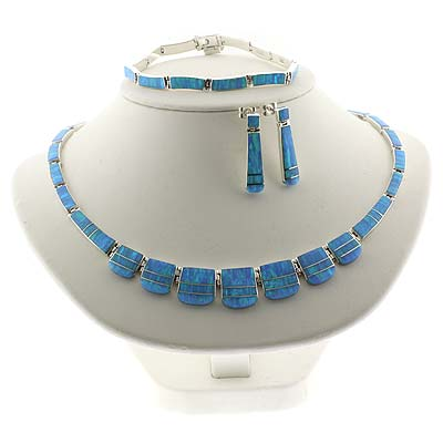 Mexican Blue Opal Silver Set Jpg
