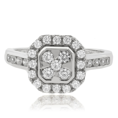 Gorgeous Simulated Diamond Engagement Ring