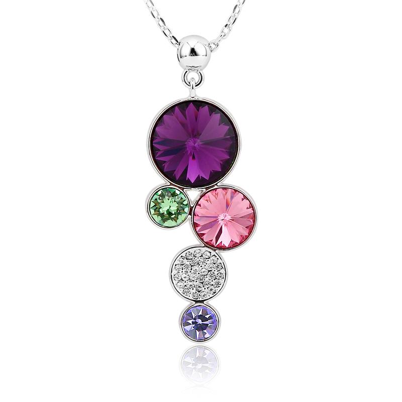 Amazing Swarovski Amatista Circles Necklace