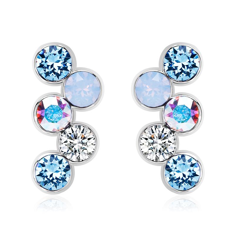 Nice Pair Of Blue Swarovski Earrings