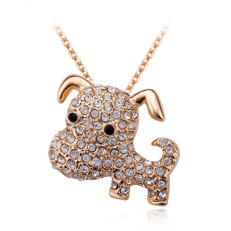 Cute Dog Necklace With Swarovski
