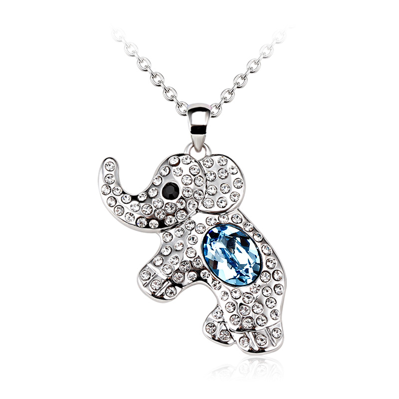 Elephant Necklace With Swarovski