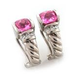 Inspired Pink Topaz Earrings