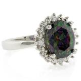 Mystic Topaz Engagement Ring