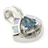 Alexandrite and White Opal Silver Pendant