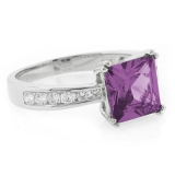Engagement Alexandrite Silver Ring