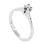 0.13 ct tw Diamond Ring Setting in 18K White Gold