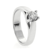 0.33 ct tw Diamond Solitaire Ring Setting in 18K White Gold