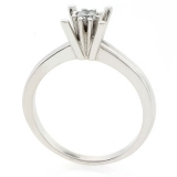 0.19 ct tw Diamond Engagement Ring Setting in 18K White Gold