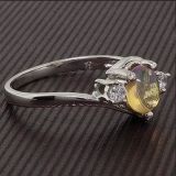 Natural Mexican Jelly Fire Opal Ring
