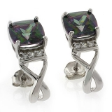 Mystic Topaz Cushion Cut Earrings