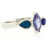 Affordable Tanzanite Opal Ring