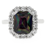 High Quality Rainbow Mystic Topaz Ring