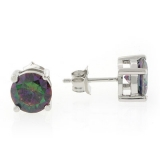 Silver Mystic Topaz Stud Earrings