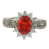 Oval Cut Fire Opal Ring