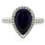 Pear Cut High Quality Sapphire Ring