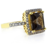 Authentic Smoked Topaz Sterling Silver Ring