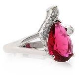 Pear Cut Tourmaline Sterling Silver Ring