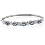 Alexandrite Color Change Silver Bangle