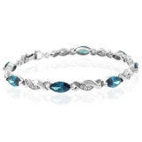 Alexandrite Bracelet Color Change Sterling Silver