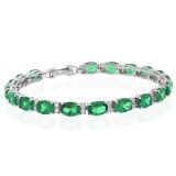 Full Emerald Sterling Silver Bracelet