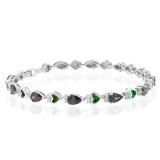 Opal And Mystic Topaz Fashion Silver Bracelet