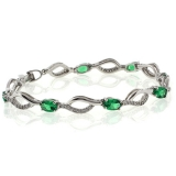 Oval Cut Emerald Bracelet