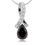 Pear Cut Mystic Topaz Sterling Silver Pendant