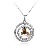Amber Color Swarovski Crystal Pendant