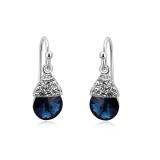 Blue Pear-Cut Swarovski Earrings