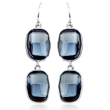 Gorgeous Blue Swarovski Drop Earrings