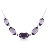 Swarovski Crystal Necklace Tanzanite Color