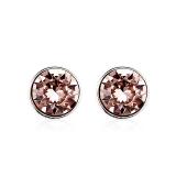 Vintage Rose Swarovski Crystal Earrings