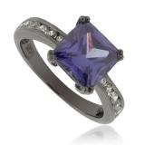 Engagement Tanzanite Black Silver Ring