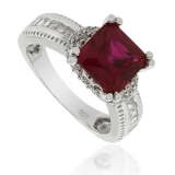 Majestic Ruby Sterling Silver Ring