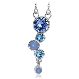 Swarovski Necklace In Blue Tones