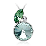 Green Swarovski Crystal Necklace
