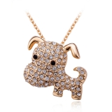 Cute Dog Necklace With Swarovski