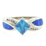 Master Piece Opal Blue Topaz Ring