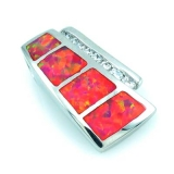 Pink Australian Opal Slider Pendant