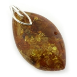 Genuine Baltic Amber Silver Pendant