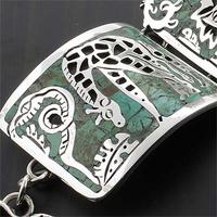 Handmade Jungle Animals Silver Unique Bracelet