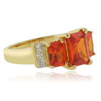 14K Gold Plated Sterling Silver Opal Ring