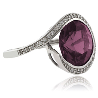 Round Cut Color Change Alexandrite Silver .925 Ring